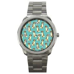 Dog Animal Pattern Sport Metal Watch