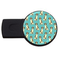 Dog Animal Pattern Usb Flash Drive Round (4 Gb)