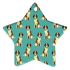 Dog Animal Pattern Star Ornament (two Sides)