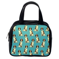 Dog Animal Pattern Classic Handbags (One Side)