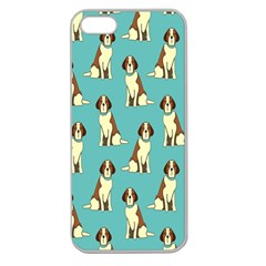 Dog Animal Pattern Apple Seamless Iphone 5 Case (clear)