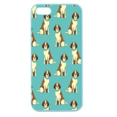 Dog Animal Pattern Apple Seamless Iphone 5 Case (color)