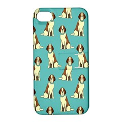 Dog Animal Pattern Apple Iphone 4/4s Hardshell Case With Stand
