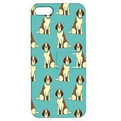 Dog Animal Pattern Apple Iphone 5 Hardshell Case With Stand