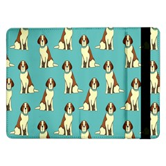 Dog Animal Pattern Samsung Galaxy Tab Pro 12 2  Flip Case