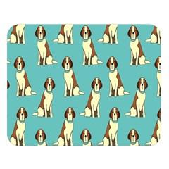 Dog Animal Pattern Double Sided Flano Blanket (large)