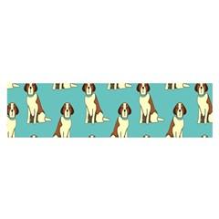 Dog Animal Pattern Satin Scarf (oblong)