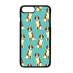 Dog Animal Pattern Apple Iphone 7 Plus Seamless Case (black)