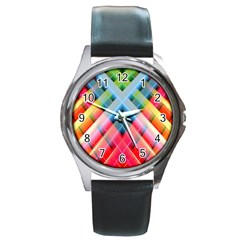 Graphics Colorful Colors Wallpaper Graphic Design Round Metal Watch