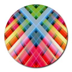 Graphics Colorful Colors Wallpaper Graphic Design Round Mousepads