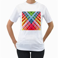 Graphics Colorful Colors Wallpaper Graphic Design Women s T Shirt (white) (two Sided)