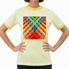 Graphics Colorful Colors Wallpaper Graphic Design Women s Fitted Ringer T Shirts