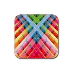 Graphics Colorful Colors Wallpaper Graphic Design Rubber Square Coaster (4 Pack)