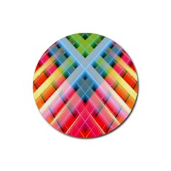 Graphics Colorful Colors Wallpaper Graphic Design Rubber Round Coaster (4 pack)