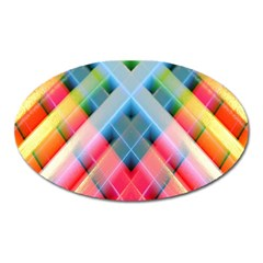 Graphics Colorful Colors Wallpaper Graphic Design Oval Magnet