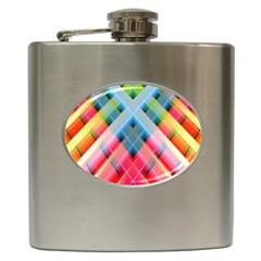 Graphics Colorful Colors Wallpaper Graphic Design Hip Flask (6 Oz)