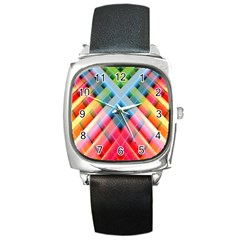 Graphics Colorful Colors Wallpaper Graphic Design Square Metal Watch