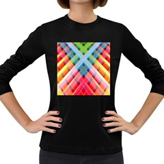 Graphics Colorful Colors Wallpaper Graphic Design Women s Long Sleeve Dark T-Shirts