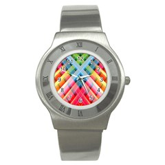 Graphics Colorful Colors Wallpaper Graphic Design Stainless Steel Watch