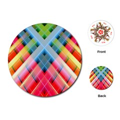 Graphics Colorful Colors Wallpaper Graphic Design Playing Cards (round)