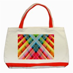 Graphics Colorful Colors Wallpaper Graphic Design Classic Tote Bag (red)