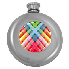 Graphics Colorful Colors Wallpaper Graphic Design Round Hip Flask (5 Oz)