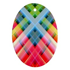 Graphics Colorful Colors Wallpaper Graphic Design Oval Ornament (two Sides)