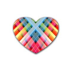 Graphics Colorful Colors Wallpaper Graphic Design Heart Coaster (4 Pack)