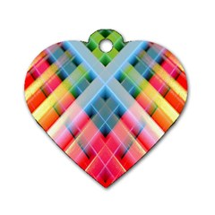 Graphics Colorful Colors Wallpaper Graphic Design Dog Tag Heart (one Side)