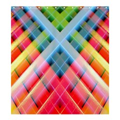 Graphics Colorful Colors Wallpaper Graphic Design Shower Curtain 66  x 72  (Large)