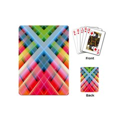 Graphics Colorful Colors Wallpaper Graphic Design Playing Cards (mini)