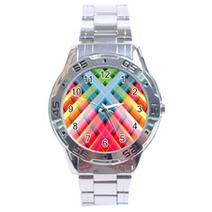 Graphics Colorful Colors Wallpaper Graphic Design Stainless Steel Analogue Watch
