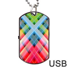 Graphics Colorful Colors Wallpaper Graphic Design Dog Tag USB Flash (One Side)