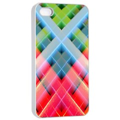 Graphics Colorful Colors Wallpaper Graphic Design Apple Iphone 4/4s Seamless Case (white)