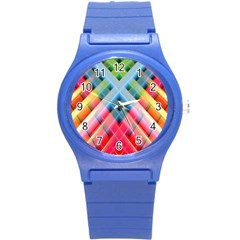 Graphics Colorful Colors Wallpaper Graphic Design Round Plastic Sport Watch (s)