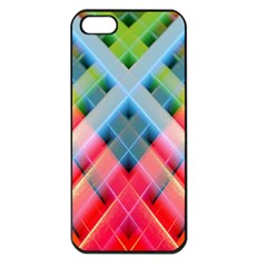 Graphics Colorful Colors Wallpaper Graphic Design Apple Iphone 5 Seamless Case (black)