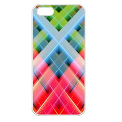 Graphics Colorful Colors Wallpaper Graphic Design Apple iPhone 5 Seamless Case (White)