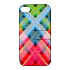 Graphics Colorful Colors Wallpaper Graphic Design Apple Iphone 4/4s Hardshell Case With Stand