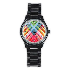 Graphics Colorful Colors Wallpaper Graphic Design Stainless Steel Round Watch