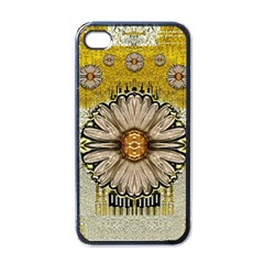Power To The Big Flower Apple Iphone 4 Case (black)
