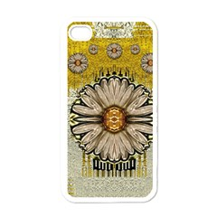 Power To The Big Flower Apple iPhone 4 Case (White)