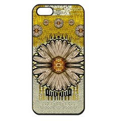 Power To The Big Flower Apple Iphone 5 Seamless Case (black)