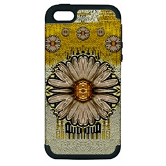 Power To The Big Flower Apple iPhone 5 Hardshell Case (PC+Silicone)