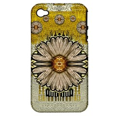 Power To The Big Flower Apple Iphone 4/4s Hardshell Case (pc+silicone)