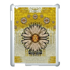 Power To The Big Flower Apple iPad 3/4 Case (White)