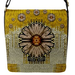 Power To The Big Flower Flap Messenger Bag (s)