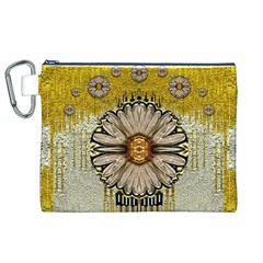 Power To The Big Flower Canvas Cosmetic Bag (XL)