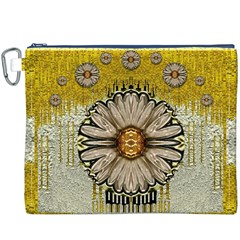 Power To The Big Flower Canvas Cosmetic Bag (XXXL)