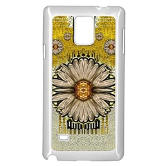 Power To The Big Flower Samsung Galaxy Note 4 Case (white)