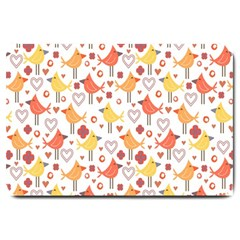 Animal Pattern Happy Birds Seamless Pattern Large Doormat